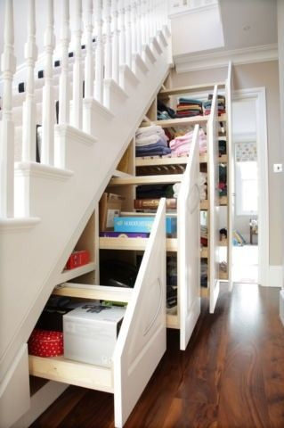 Drawers under stairs