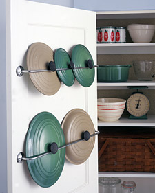 Lid storage in kitchen