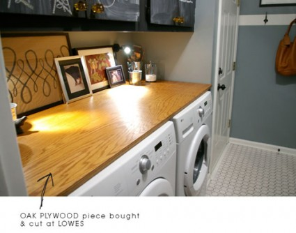 Countertop for washer/dryer