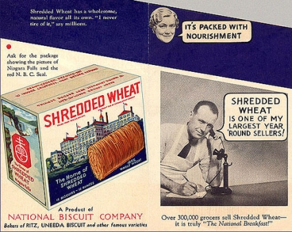 Nabisco Shredded Wheat promo from 1930 (via Flickr/alsis35)