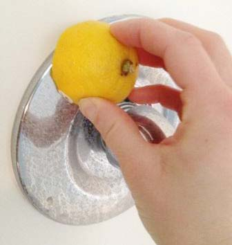 9. How to: Clean the shower faucet