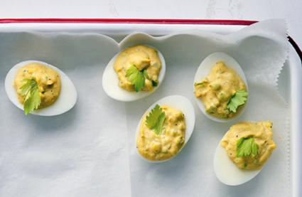 Martha Stewart's Old Bay deviled eggs