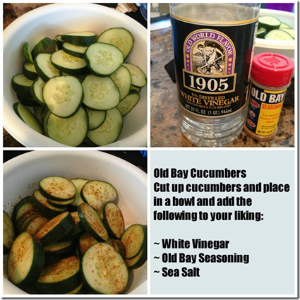 Bare It All Fitness' Old Bay cucumbers