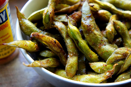 "Kid Can Eat's crispy ""Old Bay"" edamame"