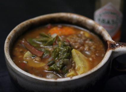 I Eat Food's Old Bay lentil soup