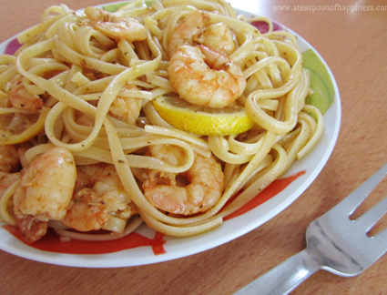 A Teaspoon of Happiness' shrimp scampi