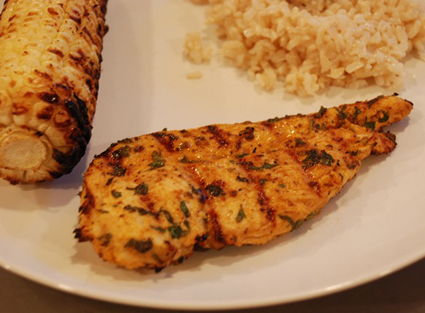 Fork To Cork's Old Bay grilled chicken