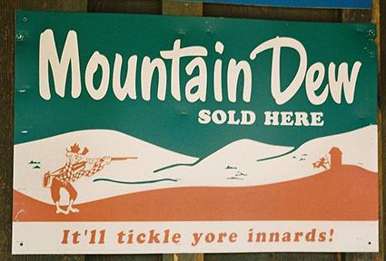 Photo: 1950s Mountain Dew ad; via Wikimedia Creative Commons